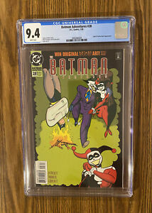 DC Comics - Batman Adventures #28 - CGC 9.4 - Joker/Harley Quinn app - White 🔑