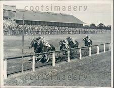 1935 Horse Race Jamaica Track Long Island NY Creole Bird Stickemup Press Photo