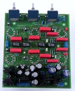 Röhren Pre Amp mit Abschaltbarer Klangreglung -Bausatz und Alps Blue, Ohne Röhre