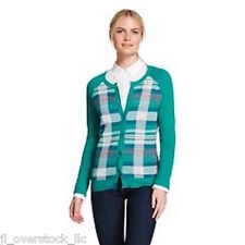 Merona Women's Favorite Green Plaid Cardigan Sweater XXL - NEW WITH TAGS
