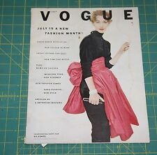 July Vogue 1952 Rare Vintage Vanity Fair Fashion Design Collection Magazine