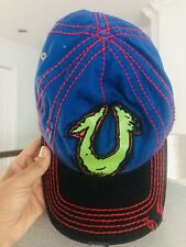 True Religion Baseball Cap Hat Adjustable Distressed Blue Red Green Vintage
