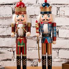 Wooden Soldiers Nutcracker Christmas Party Drummer Walnut Ornaments Home Decor