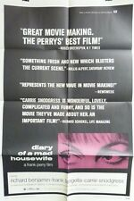 """VTG 1970 """"DIARY OF A MAD HOUSEWIFE"""" US RELEASE ORIG 1SH 27X41 MOVIE POSTER"""