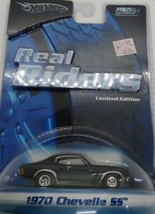 Hot Wheels Real Rider black 1970 CHEVELLE SS 1:64 MIP!