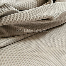 10 Metres Of Thin Soft Pin Striped Corduroy Sofa Upholstery Fabric Silver Colour