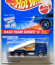 HOT WHEELS 1995 RACE TEAM SERIES II RAMP TRUCK #1/4 BLUE