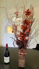 copper Brown cream dried Display free 20 LED lights Free wood vase weddings