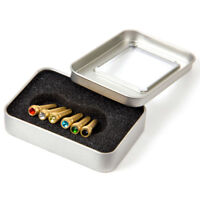 Kmise Guitar Bridge Pins for Acoustic Classical Guitar Brass Colourful Crystal