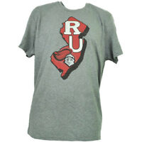 NCAA Rutgers Scarlet Knights State Map Logo Tshirt Tee Mens Adult Short Sleeve