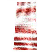 Red DIY Artificial Diamonds Decoration Sticker for Car Mobile PC Nail Art 4mm XZ