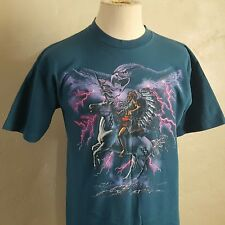 VTG 90s ~ Native American/Indian ~ Blue T Shirt ~ Indie ~ War Chief/Eagle ~ L