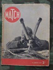 Revue Match 18 Janvier 1940 balkan guerre roumanie débâcle russe en finlande