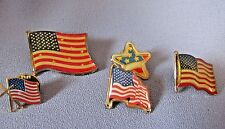 """PATRIOTIC UNITED STATES """"GIVE 1 TO A FRIEND FLAG"""" LOT OF 5 PINS"""