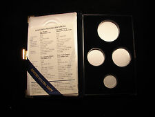 1998 W American Eagle Gole Four Coin Set Proof Box and COA, OGP - NO COIN