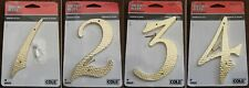 COLE BRASS DIE CAST HOUSE NUMBERS 1, 2, 3, 4, 5, 6, 7, 8, 9, 0 - NEW / SEALED
