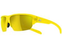 Adidas Kumacross Halfrim A421 00 6059 Yellow matte Authentic Sunglasses