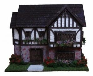 Dollhouse Miniature 1:144 Scale Tudor Style Dollhouse Kit Complete