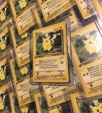 POKEMON 1ST EDITION PROMO CARD - GOLD W STAMPED - PIKACHU 60/64 - NEAR MINT