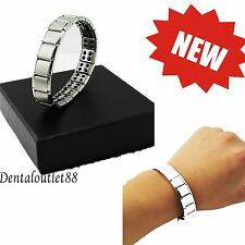 Silver Titanium Bracelet Power Nano Energy Germanium Magnetic new NEW
