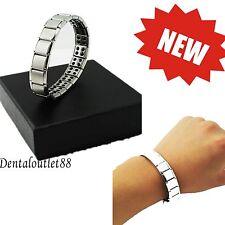 Silver Titanium Health Bracelet Power Nano Energy  Magnetic Balance&NEW