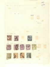 [OP6384] Ceylon lot of stamps on 10 pages