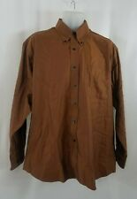 Forsyth Of Canada Mens Shirt Size Large Button Down Long Sleeve Striped Copper