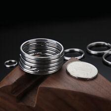 10Pcs Key Ring Metal Silver Nickel Split Key Chain Connectors Stainless Steel