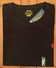 Ralph Lauren Polo Deep Coal Black 2xb Big S/s Crewneck T-shirt Red Pony