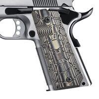 Guuun 1911 Grips Full Size Government Pistol G10 1911 Grips Cobweb Skull Texture