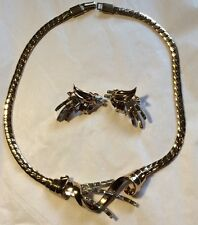 Vintage Trifari, Pat.Pend. Meteor Collection, 1949-56 Necklace & Earrings! FAB!