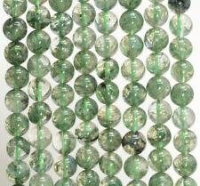 8MM Green Crystal Phantom Quartz Gemstone Grd AAA Round 15.5 Inch(80007331-A255)