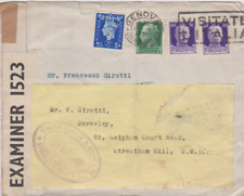 1940 ITALY THOMAS COOK UNDERCOVER MAIL COVER PORTUGAL PO BOX 506 REDERICTED 74*