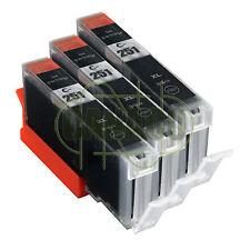 3 Black CLI-251XL CLI-251BK Ink Set for Canon Pixma MX722 MX922 CLI251 New CHIP