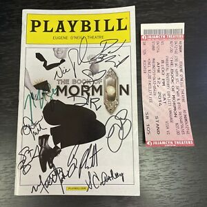 SIGNED Playbill: BOOK OF MORMON April 2014! AUTOGRAPHED At Stage Door! BEN PLATT