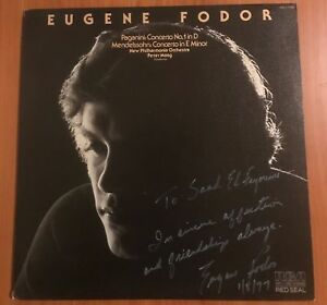 EUGENE FODOR SIGNED LP RCA Red Seal Paganini & Mendelson Concertos VERY RARE