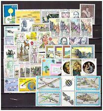 s39690 ITALIA MNH 1983 Year set 46v Annata completa   3 scans
