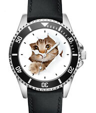 Katze Kätzchen Geschenk Fan Artikel Zubehör Fanartikel Uhr L-2742