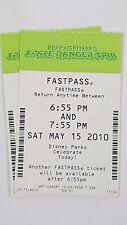Disney FASTPASS Walt Disney World Fast Pass Ticket BUZZ LIGHTYEAR SPACE 0655