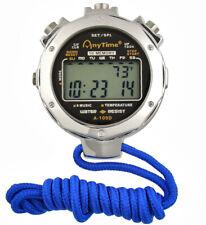 Digital Metal Stopwatch 2 Row Display 10 Lap Memory Split Timer Sports Stopwatch