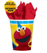 Sesame Street Cups Elmo & Cookie Monster Birthday Party Supplies 266ml Pack of 8