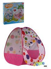 Tenda Casetta Giochi Bambini Con 20 Palline Gioco Salvaspazio Pieghevole art.589