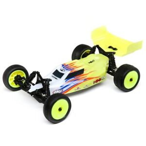 Losi Mini-B 1/16 Brushed 2wd Buggy RTR Yellow/White LOS01016T3