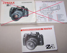 Bedienungsanleitung Gebrauchsanweisung  Asahi Pentax Z1 Z-1 / AUSWAHL 1 Stck OK