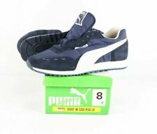 New Vintage 70s Puma Mens Size 8 Cyclone LE Casual Athletic Shoes Navy Blue