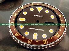 0508 Dark Coffee Bronze Color Replacment Dial For SCUBA SKX009 Dark Yellow Marks