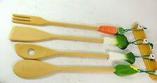 Avon Kitchen Utensils Wooden Spoon Set Vegetables