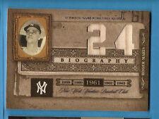 ROGER MARIS 2005 Biography HR #24 DUAL GAME USED BAT CARD NEW YORK YANKEES HOF