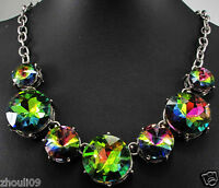 2017 New Design Lady Bib Statement inspiration crystal pendant  necklace collar