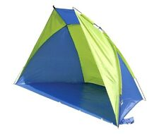 SUMMER BEACH SHELTER UV WINDBREAKER TENT sewn in ground sheet carry bag & pegs